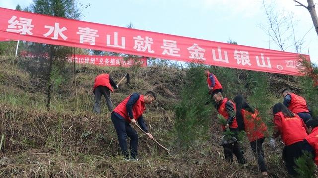 """江口镇开展秋冬季""""我为祖国植10棵树""""活动"""