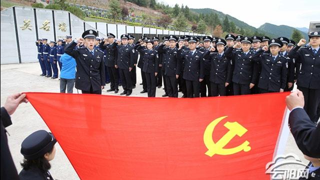 【网络中国节·清明】县公安局联合消防救援大队开展清明节祭扫活动